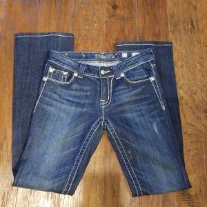 Miss Me 27 Bootcut Cross Pocket Jeans